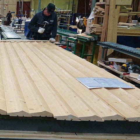 Olemme aloittaneet valmistamaan elementtejä Kalastuksen Taloon joka rakennetaan Vaasaan / Produktion av Fiskets Hus till Vasa har påbörjats #teritalot #terihus #kalastuksentalo #fisketshus