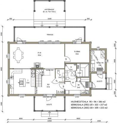 J-005 / 186 m² - Teri-Hus