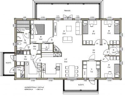 J-033 / 142,5 m2 - Teri-Hus