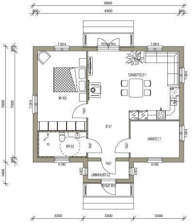L-13187 / 69 m² - Teri-Hus