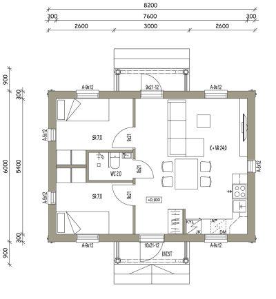 L-17048 / 41 m2 - Teri-Hus
