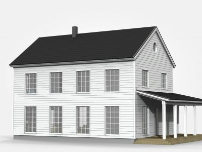 3D-bilder på huset Taika och tankar kring arkitekturen - Teri-Hus