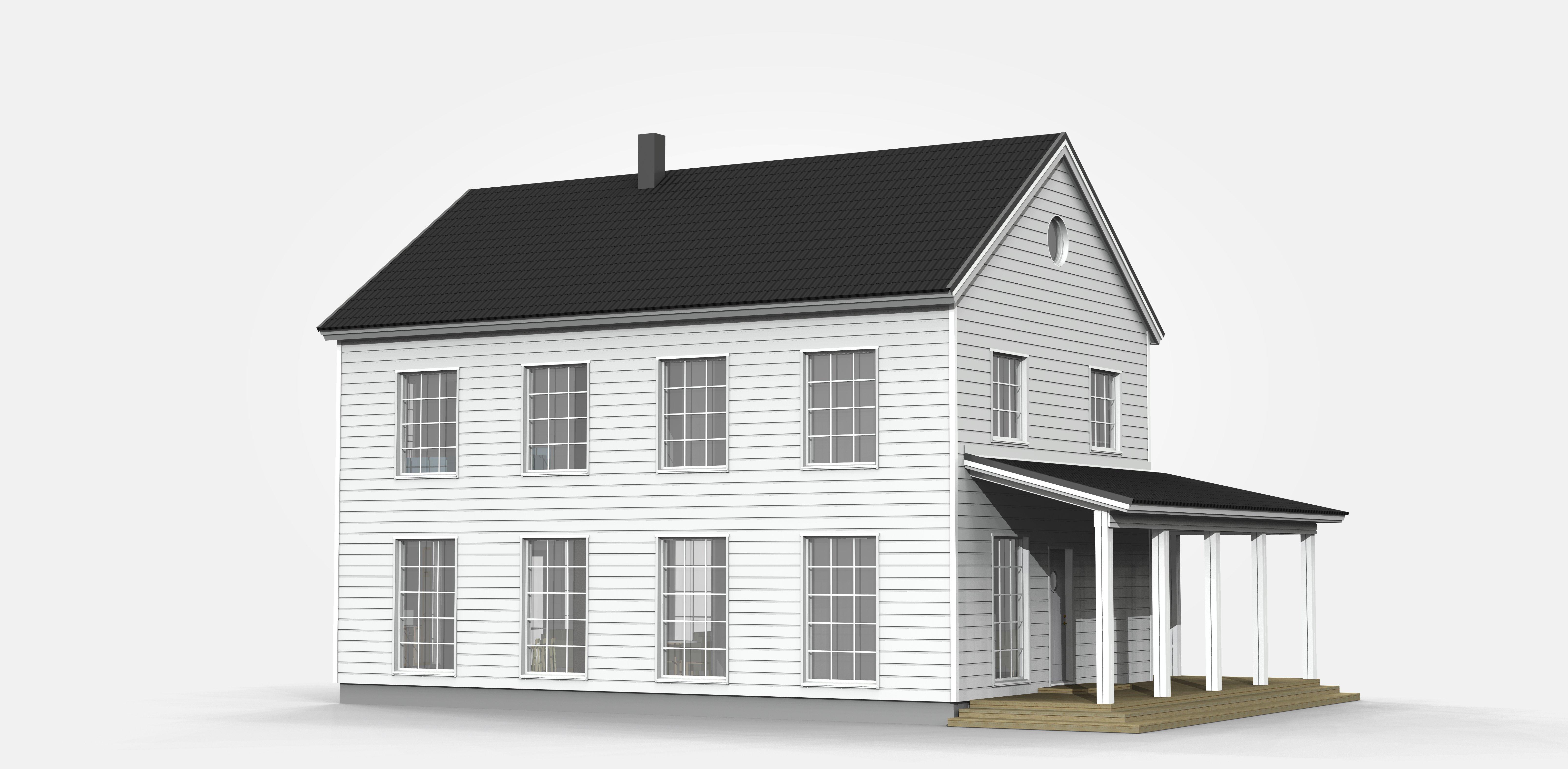 3D-bilder på huset Taika och tankar kring arkitekturen