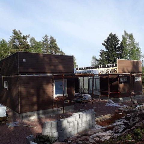 Yksi viikon asennuksista Ahvenanmaalla, Cubo 160 / En av veckans monteringar på Åland, Cubo 160  #teritalot #terihus #talopaketti #huspaket #uusikoti #nytthus